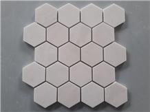 Hexagon Milky Marble Mosaic