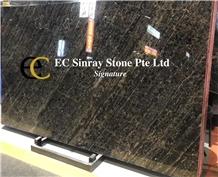 Brazil Empire Gold Portoro Marble Slabs Tiles