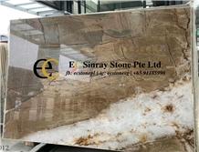 Brazil Feldspar Beige Brown Quartzite Slabs, Tiles