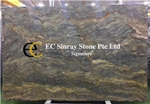 Brazil Fusion Blue Fire Quartzite Slabs & Tiles