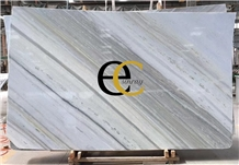 Brazil White Ocean Blue Marble Slabs & Tiles