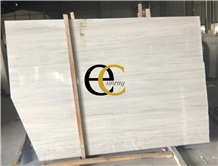 French Crystal Wood White Marble Slabs & Tiles