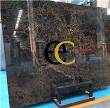 Iran Kashan Golden Black Marble Slabs & Tiles