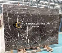 Italy Ebony Grey Marble Slabs & Tiles