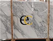 Italy Statuario Caldia White Marble Slabs & Tiles