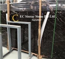 Noir St. Laurent Black Brown Marble Slabs & Tiles