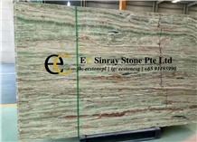 Smeraldo Bamboo Green Onyx Slabs & Tiles