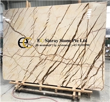 Turkey Dragon Beige Gold Marble Slabs & Tiles