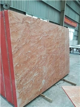 Polished Slab and Floor Tile Rosa Tea Red Marble