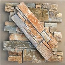 China Golden Loose Slate Stone Veneer Panels