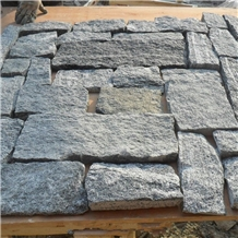 China Sesame Grey Loose Stone Wall Claddings Panel