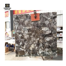 Grey Gemstone Wall Tile Smoky Quartz Slab
