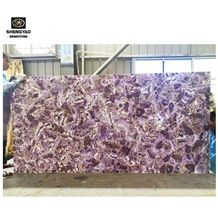 Luxury Amethyst Big Slab Purple Gem Wall Planes