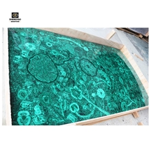 Luxury Villa Decoration Green Malachite Slab