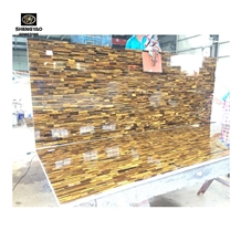 Luxury Wall Plane Yellow Tiger Eye Stone Big Slab