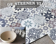 Authentic Terrazzo Cement Floor Tiles