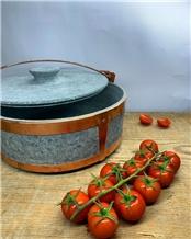 Soapstone Pot - Copper Bound