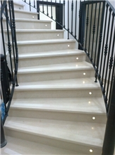 Codacal Real Limestone Staircase- Risers, Steps