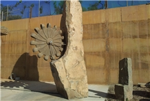Brown Pyrenees Sandstone Fountains