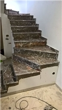 Grigio Taormina Marble Stair Steps and Risers