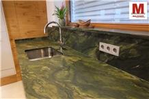 Kitchen Countertop Granit Verde Picasso