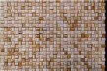 Sunshine Onyx Basketweave Mosaic