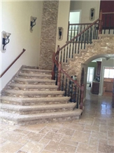 Durango Travertine Split Face Walls and Floors