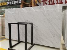 Bianco Carrara Grand Marble Slab Indoor Covering