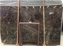 Chinese Emperador Dark Marble Slab Covering Tile