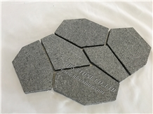 Fan Shaped Outdoor Cube Paver Floor Cover Project