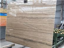 Silver Travertine Slab Wall Floor Covering Tile