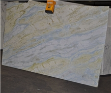 Emerald Jade Blue River Marble Lemon Ice Slabs, Tile