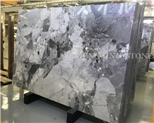 Pandora White Marble Slab, China New Grey Stone Hotel Project Material