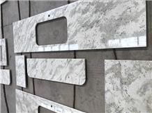 Andromeda White Granite Kitchen Countertops