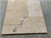 Beige French Yellow Limestone Floor Pavers