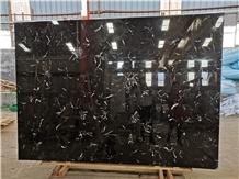 Black Ice Flower Marble Polished Big Slabs