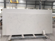 Carrara White Artificial Quartz Stone Kitchen Slab