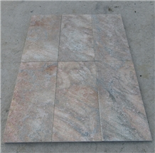 Flamed Yellow Rust Slate Stone Flooring Tiles