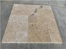 French Pattern Yellow Limestone Floor Tiles