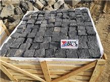 G684 Black Basalt Natural Cobble Stone Pavers Setts