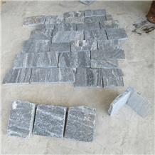 Han Grey Brick Stacked Stone Wall Decor