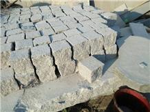 Natural Split G375 Grey Granite Cobblestone Paver
