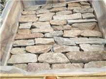 Rusty Quartize Loose Stone Corner Split Cladding
