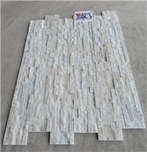 White Quartzite Cultured Stone Wall Cladding Panel
