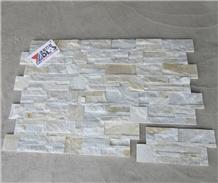 White Quartzite Split Stacked Stone Veneer for Wall