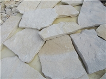 White Sandstone Loose Stone Wall Panel and Corner