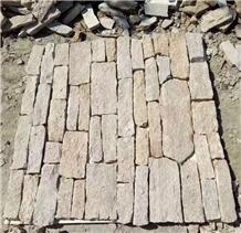 Yellow Quartzite Wall Fieldstone and Corner Stone