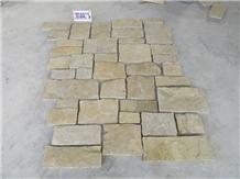 Yellow Rock Loose Stone Wall Panel Corner Stone