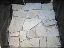 Yellow Split Quartzite Wall Panel and Corner Stone