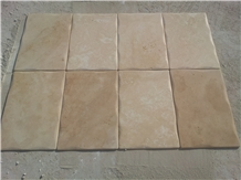 Light Medium Travertine Pillowed Edge Pattern